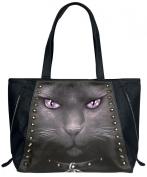 Spiral Black Cat Handbag black