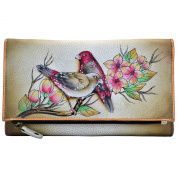 Anuschka Hand Painted Luxury - 1136 Leather Three Fold Clutch