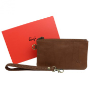 Ladies Soft LEATHER Wrist BAG Handbag by GiGi Stylish Handy Coin Purse Pouch Gift Boxed