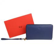 Ladies Soft LEATHER Travel Document WRIST BAG WALLET by GiGi Stylish Gift Box