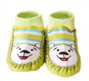 Au monde des petits Baby Girls' Booties Green green 6 to 12 Months