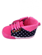 Tourwin Baby Girl's Dots Soft Sole Prewalker Crib Shoes