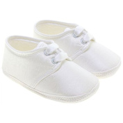 Baby Boy White Christening Shoes 0-12 Months