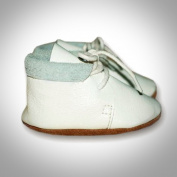 Leather Baby Shoes Retro White Size M