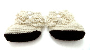 BB. 75 - Booties Baby Shoes 0/6 Months - Boots Hook Handmade Gifts Photos of Birth