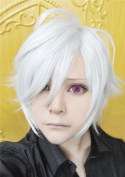 LanTing BROTHERS CONFLICT Asahina Tsubaki White Short Cosplay Party Fashion Anime Wig