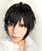 LanTing Kagerou Projet Kisaragi Shintaro Black Short Woman Cosplay Party Fashion Anime Wig