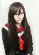 LanTing Kagerou Projet Tateyama Ayano Brown Long Woman Cosplay Party Fashion Anime Wig