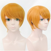 LanTing Prince of STRIDE Senoo Tasuku Orange Short Woman Cosplay Party Fashion Anime Wig