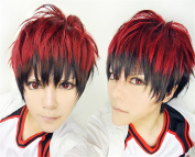 LanTing Cosplay Wig Kuroko no Basuke Kagami Taiga Red Mix Wigs Corta Cosplay Party Fashion Anime Human Costume Full wigs Synthetic Haar Heat Resistant Fibre