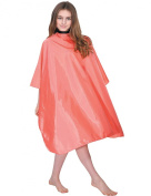 WM Beauty Professional Water Repellent Adjustable Hair Salon Cape with Snaps Closure, Orange