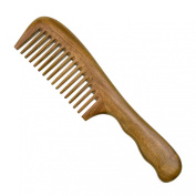 SUMERSHA Comb Wide Tooth No Static Aromatic Handmade Sandalwood Comb