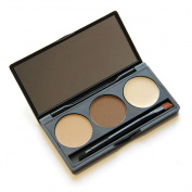 JaneDream 3 Colours Eyebrow Shading Powder Palette + Mirror Brush Cosmetic Kit for Women