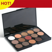 PhantomSky 15 Colours Eyeshadow Palette Makeup Contouring Kit - Perfect for Professional and Daily Use
