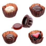 3 x Lip Balm/Lip Gloss Luxury Chocolate Sweet Pots - Various Flavours Zero Calories With Lip Wands