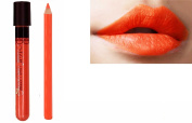 2pc Bright Orange Matt Lip Colour Lipstick Lip Wand Set with Lipliner