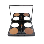 Neutral 4 Colours Palette Contouring Powder Makeup Concealer With Brush