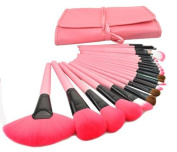TopSuper Wood 24Pcs Makeup Brushes Kit Professional Cosmetic Make Up Set, Pink
