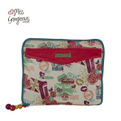 Miss Gorgeous ipad bag phone cover tote portable bag waterproof canvas material coated with PVC