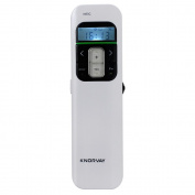 Proster Rechargeable Wireless Presenter 2.4GHz PowerPoint Presentation Page Turning and Mouse Mode Clock Vibration Setting Remote Control with LCD Display for Win7 8 10 Mac OS Linux Android4.3 or above