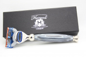 Gillette Fusion Purple Handle Razor Design by Haryali London with branded box Gift for Men