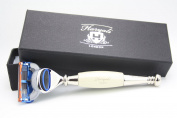 Gillette Fusion Ivory & Steel Handle Design by Haryali London with Branded Box Gift for Men