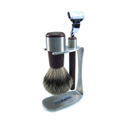 Badger Gold Badger Shaving Gift Set - 100% Badger Plucked Silver - Wenge,
