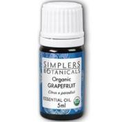 Essential Oil Grapefruit Organic Simplers Botanicals 5 ml Liquid