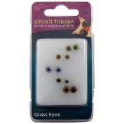 Great Create Christi Friesen Glass Eyes, 10 Ct