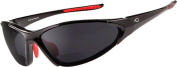 Dual Eyewear S5 Smoke Lens 1.5 Sunglasses, Black Red