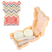 JAVOedge Teddy Bear Contact Lens Travel Kit, Chevron