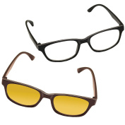 Computer & Reading Glasses Combo For Newspapers, Books, Tablets, etc. +3.50
