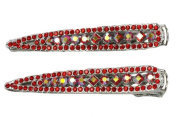 A Pair Of Red Hair Clips For Bridal Wedding