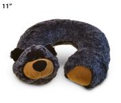 Super Soft Plush 28cm Neck Pillow Comfortable Travel Animal Headrest - Black Bear