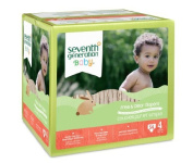 Seventh Generation Free & Clear Baby Nappies, Super Jumbo, Stage 4, 54 Ct