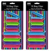 Bag Clips Pack Of 20 Sealing Bags Fridge Freezer Handy Easy Storage Kitchen