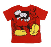 Infant/Toddlers Short Sleeve T-Shirt Mickey Body w/ Arms Crossed - Red - 4T