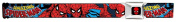 Buckle Down Kids and Teens Fabric Marvel Spiderman Seatbelt Buckle Belt, Red