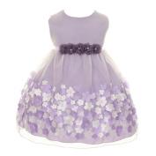 Kids Dream Baby Girls Lavender Taffeta Flowers Sleeveless Easter Dress 18M