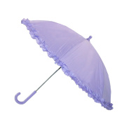 Raintec Kids Hook Handle Ruffled Umbrella, Purple