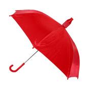 Raintec Kids No Drip Hook Handle Stick Umbrella, Red