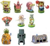 Spongebob Aquarium Decorations Set 10pc