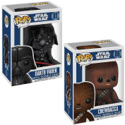 POP! Collectible Star Wars Darth Vader And Chewbacca Vinyl Bobble-Head Toy