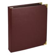 Classic Collection Ring Binder Portfolio 11 x 8-1/2 2.5cm - 1.3cm Capacity Burgundy
