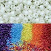 Goodlucky365 Scientific Multi Colour Uv Beads, Changing Reactive Plastic Pony Beads, Pack of 500