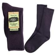 Maggie's Organics - Organic Cotton Crew Socks, Eggplant Sizes 9-11