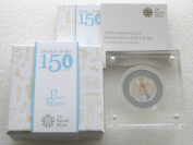 2016 Beatrix Potter Peter Rabbit 50p Fifty Pence Silver Proof Coin Box Coa Colourised by the Royal Mint