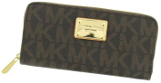 MICHAEL Michael Kors Jet Set Singature Logo Zip Around Continental Wallet