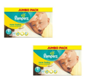 Pampers New Baby Nappies Size 1 Jumbo Pack 74 Case of 2 Total 148 Nappies