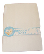 Snuggle Baby Fitted Crib/Pram Sheet - White